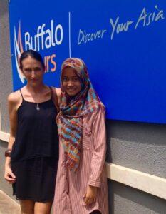 Clare Srdarov with Ella at Buffalo Tours